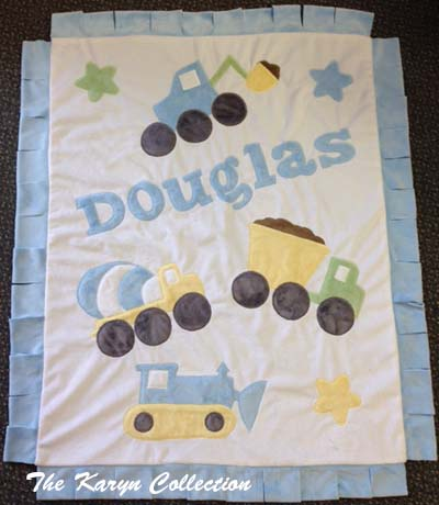 Construction Boogie Baby Blanket