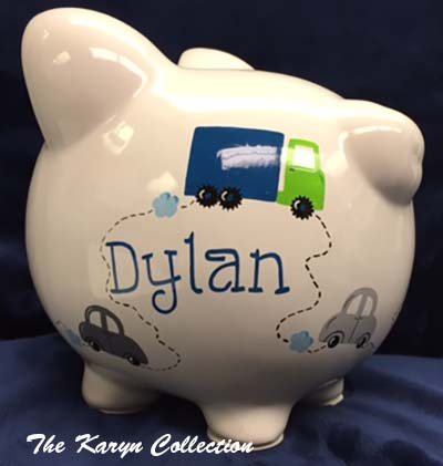 Dylan's Transportation Piggy Bank