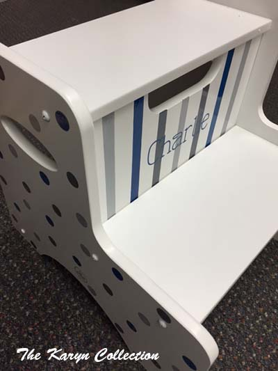 Charlie's 2-Step Stool - Dots and Stripes