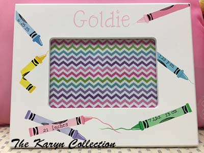 Goldie's Crayon Frame with Birth Information