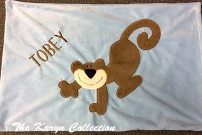 Tobey's Monkey Pillow Case