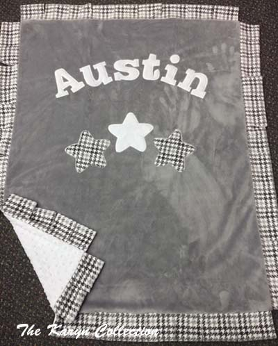 Mini or Basic 3 Star Blanket with Houndstooth