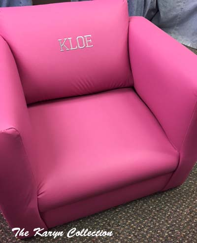 Raspberry Vinyl Chair