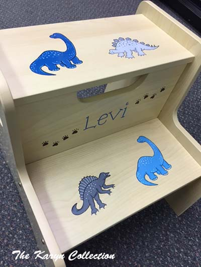 Levi's Dino 2-Step Stool in shades of blue and gray