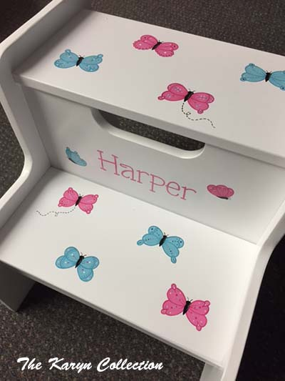 Harper's Butterfly 2-Step Stool