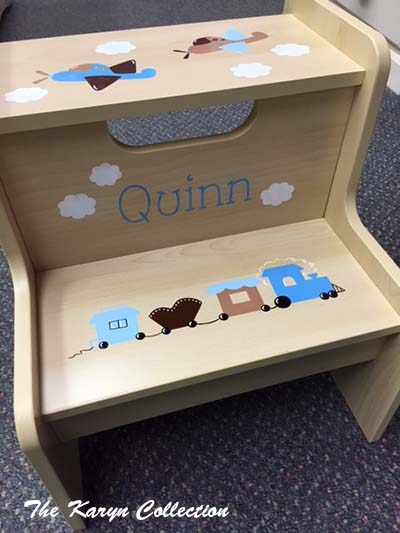 Quinn's Airplane and Train 2-Step Stool