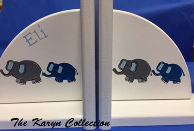 Elephants on Parade Bookends