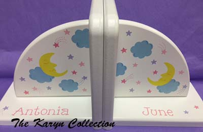 Moon and Stars Bookends