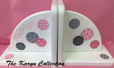 Patchwork Circles Bookends