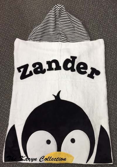 Black and White Penguin Towel