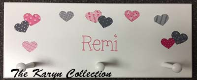 Remi's Patchwork Hearts Coat Rack