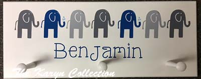 Benjamin's Elephant Wall Coat Rack
