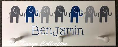 Benjamin's Elephant Wall Coat Rack