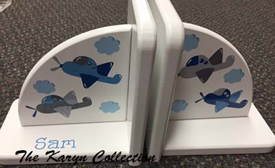 Airplane Book Ends