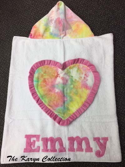 Emmy's Tie-dyed heart towel