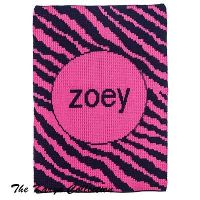 Zebra Stripe Stroller Blanket