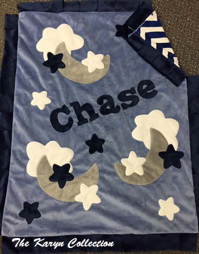 Chase Moon and Stars MInky Blanket