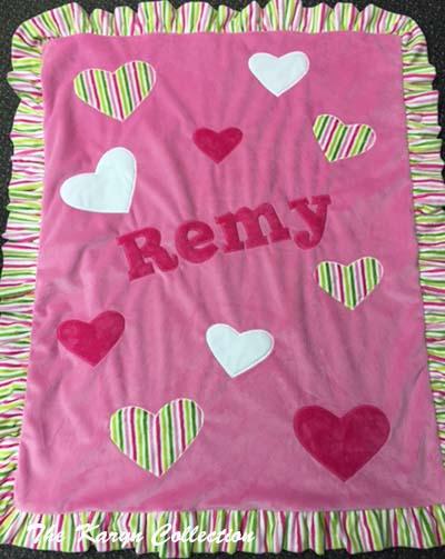 Remy's Heart Minky Blanket