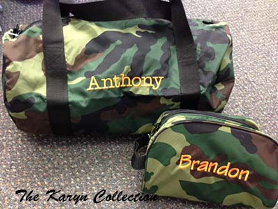 Camo duffle bags.... small or large