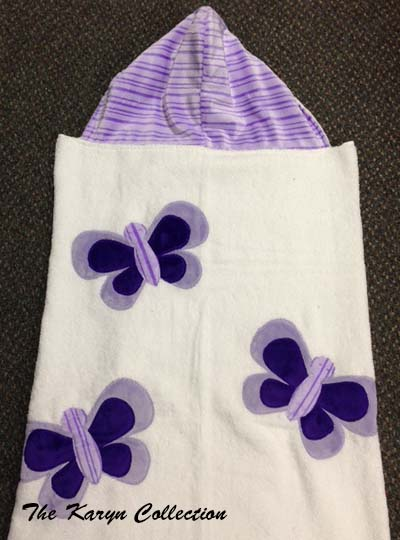 Lavender Butterfly Toddler Towel
