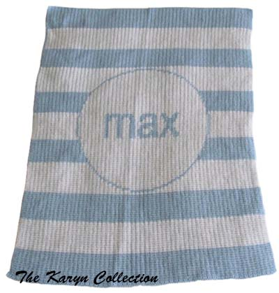Modern Striped Stroller Blanket