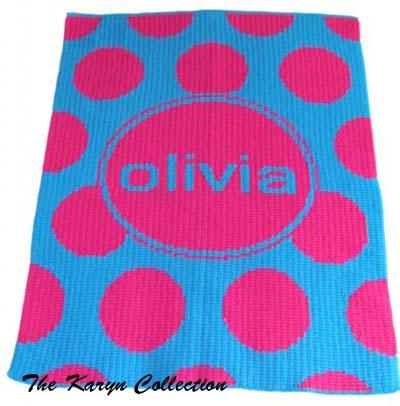 Modern Polka-Dot Stroller Blanket