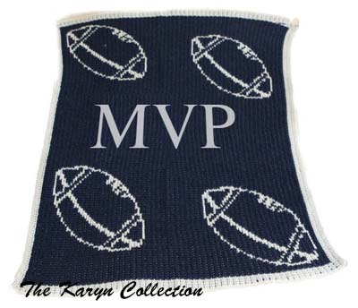 Floating Football Initials Stroller Blanket