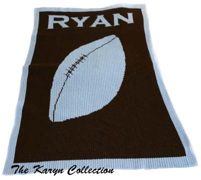 Single Football Blanket