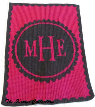 Scalloped Monogrammed Blanket