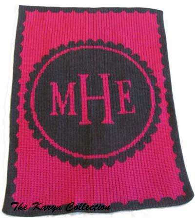 Scalloped Monogrammed Blanket