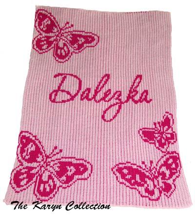 Butterflies Stroller Blanket