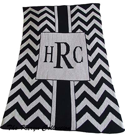 Chevron with Box Stroller Blanket