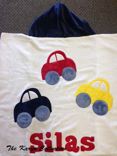 3 Car Toddler Towel