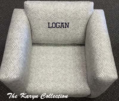 Abstract Grey Chevron Chair (OR ROCKER)***