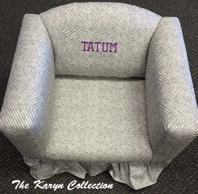 Abstract Grey Chevron Chair