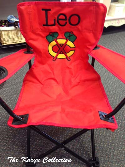 Leo's Blackhawks Stadium Chair