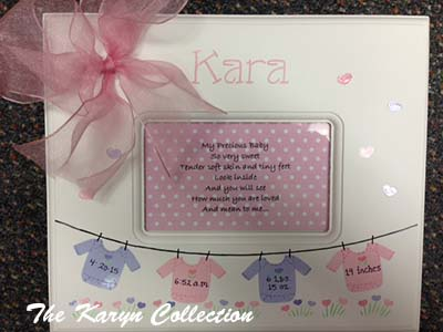 Onsie Birth information Memory box