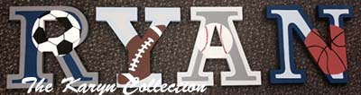 Ryan's Sports Wall Letters