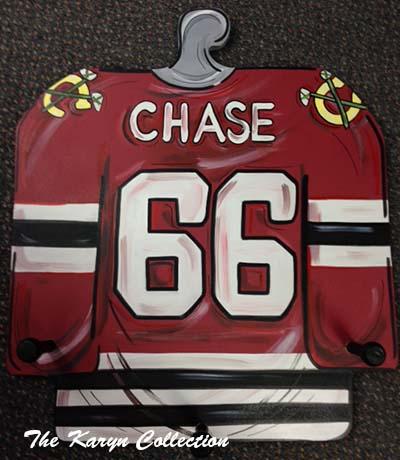 Cut Out Chicago Blackhawks Jersey Coat Rack