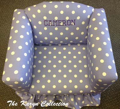 Lavender Polka Dot Chair