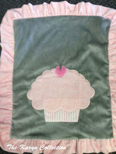 Jumbo Cupcake Minky Blanket