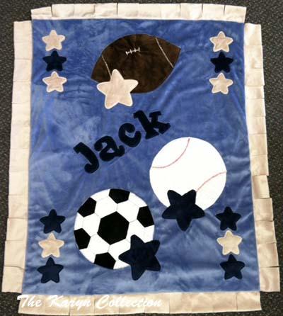 Jack's Multi-Sports Minky Blanket