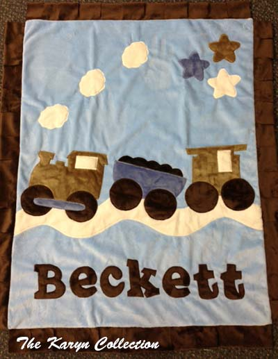 Beckett's Train Blanket