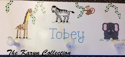 Tobey's Jungle Animal Wall Coat Rack