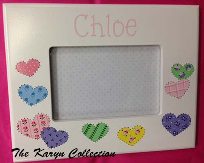 Chloe's Patchwork Hearts Frame