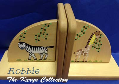 Natural Jungle Bookends