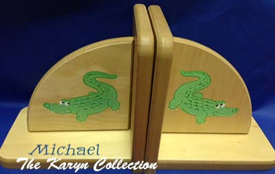 Natural Alligator Bookends