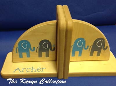 Natural Elephant Bookends