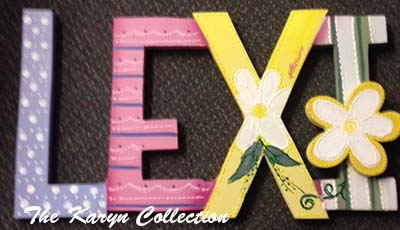 Lexi's custom wall letters