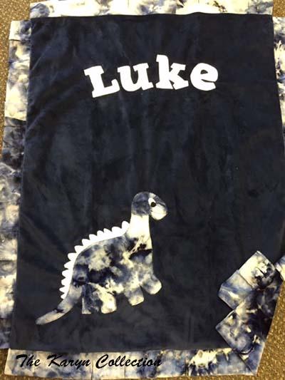 Basic Tie Dye Dino Blanket